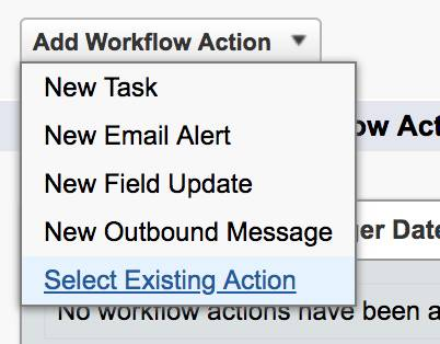 select existing action