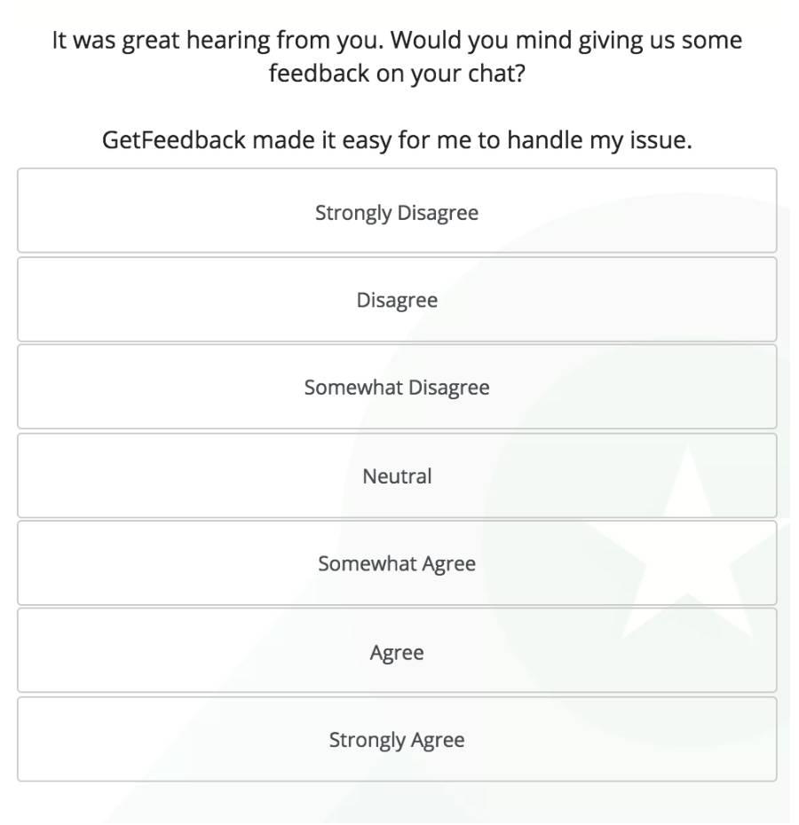 Post Chat CES Survey