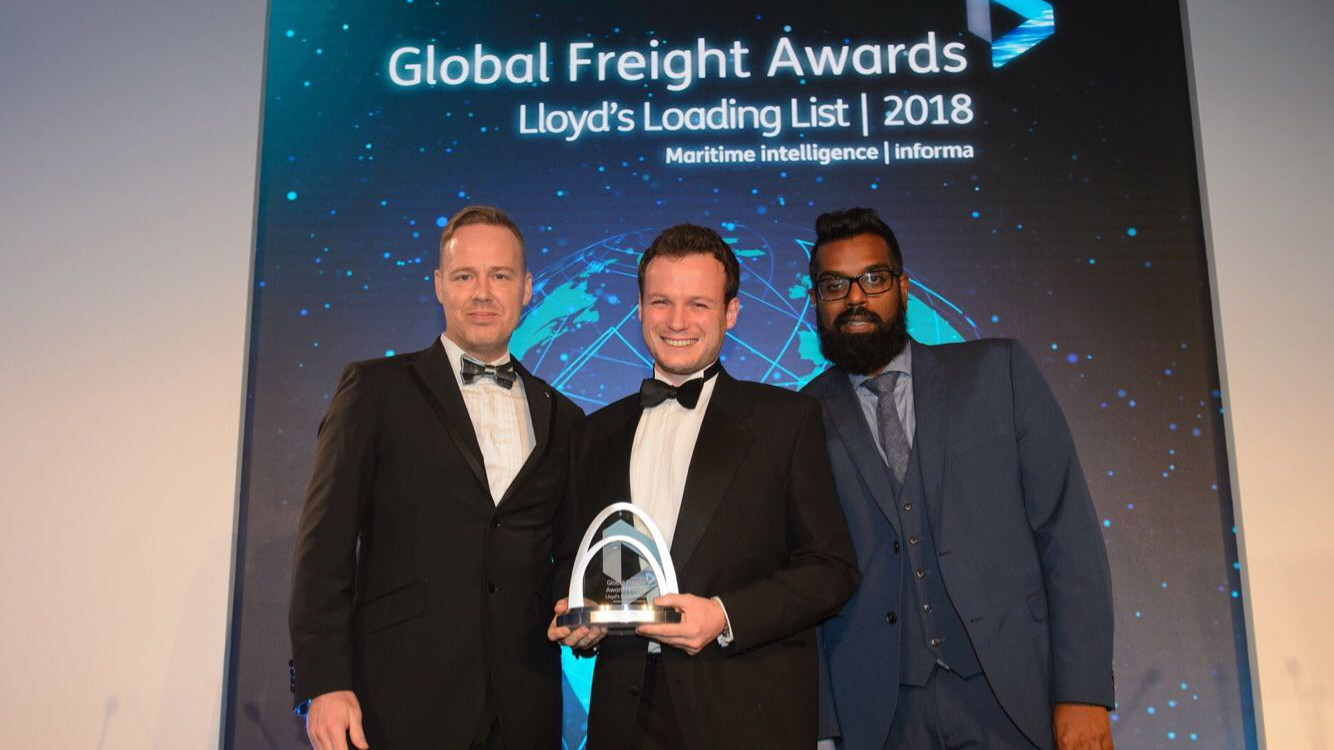 Stwoga Most innovative product award Global Freight Awards 16x9