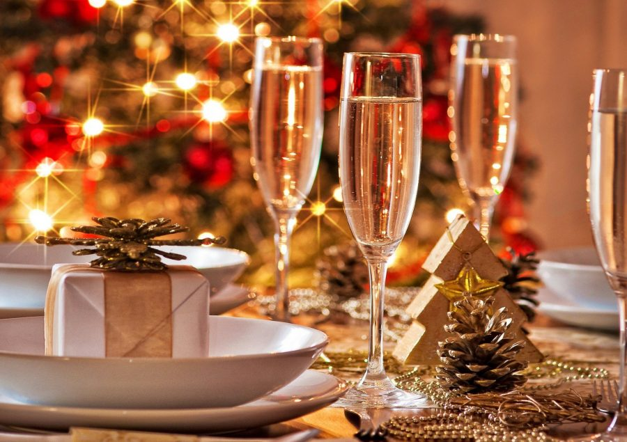 photo of bubbly at christmas time - trending commodity in december