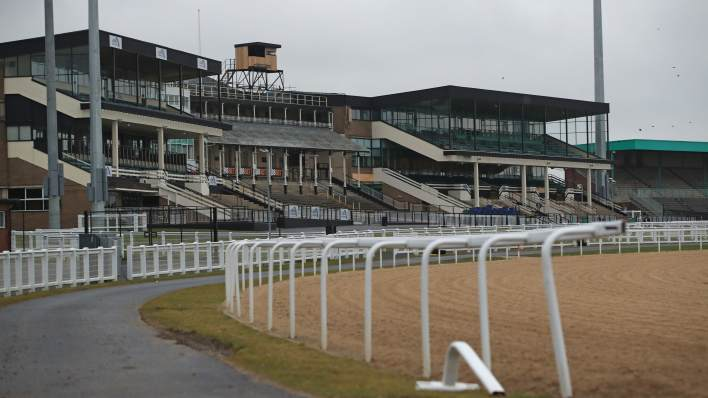 So far all racing events are to be held behind closed doors as seen here at Newcastle.
