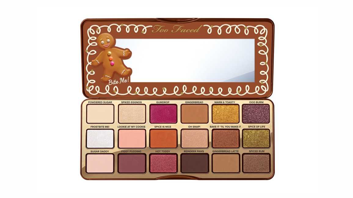 Too Faced Gingerbread Spice Eyeshadow Palette Release Date and Swatches