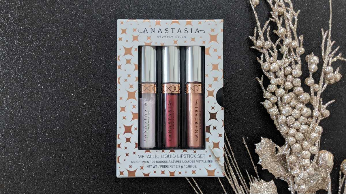 Anastasia Beverly Hills Mini Metallic Liquid Lipstick Set Review