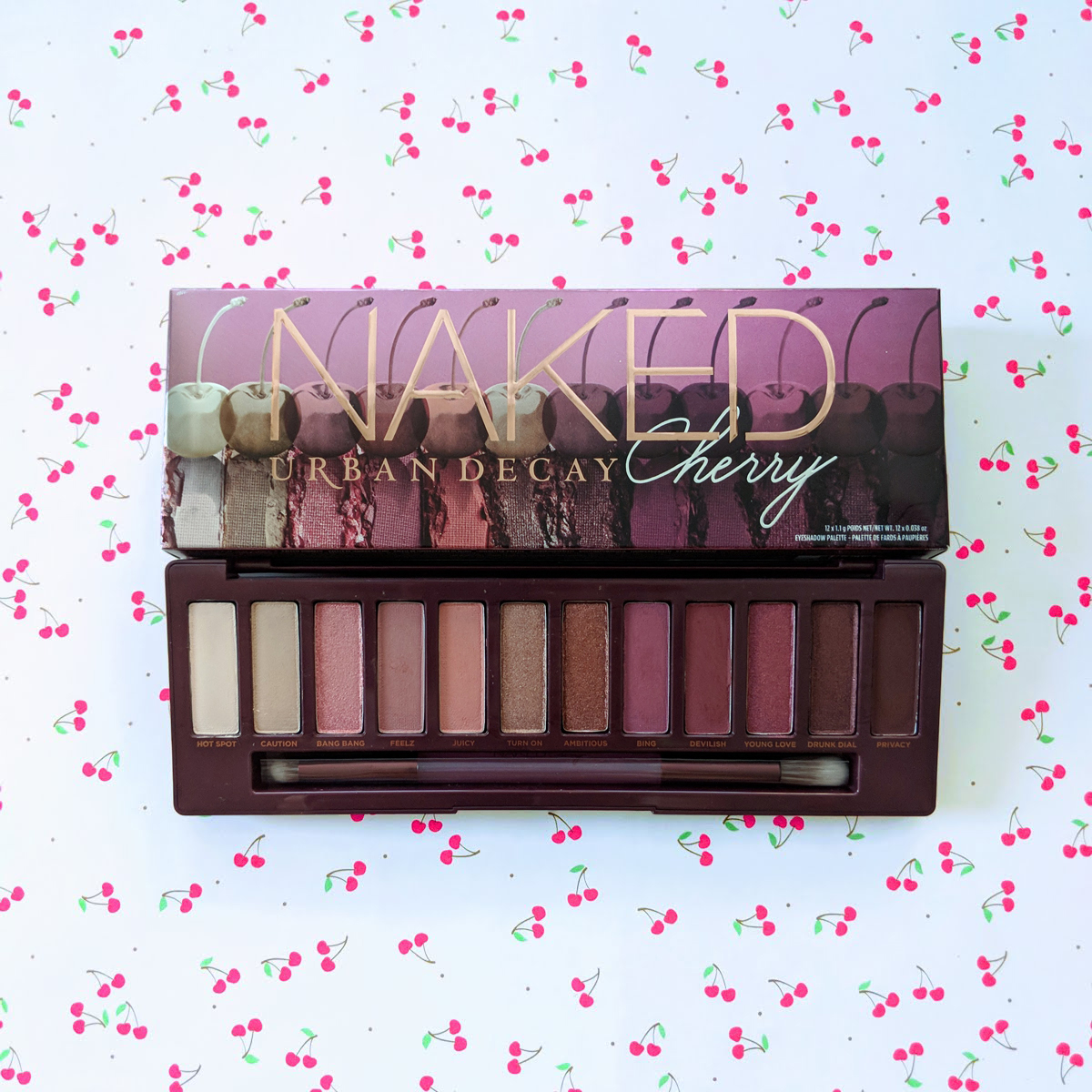 Urban Decay Naked Cherry Eyeshadow Palette Swatches Review