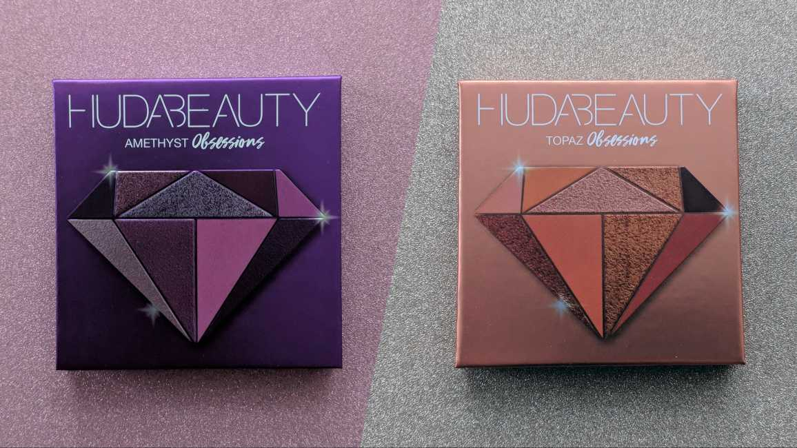 Huda Beauty Precious Stones Amethyst vs Topaz Review and Swatches