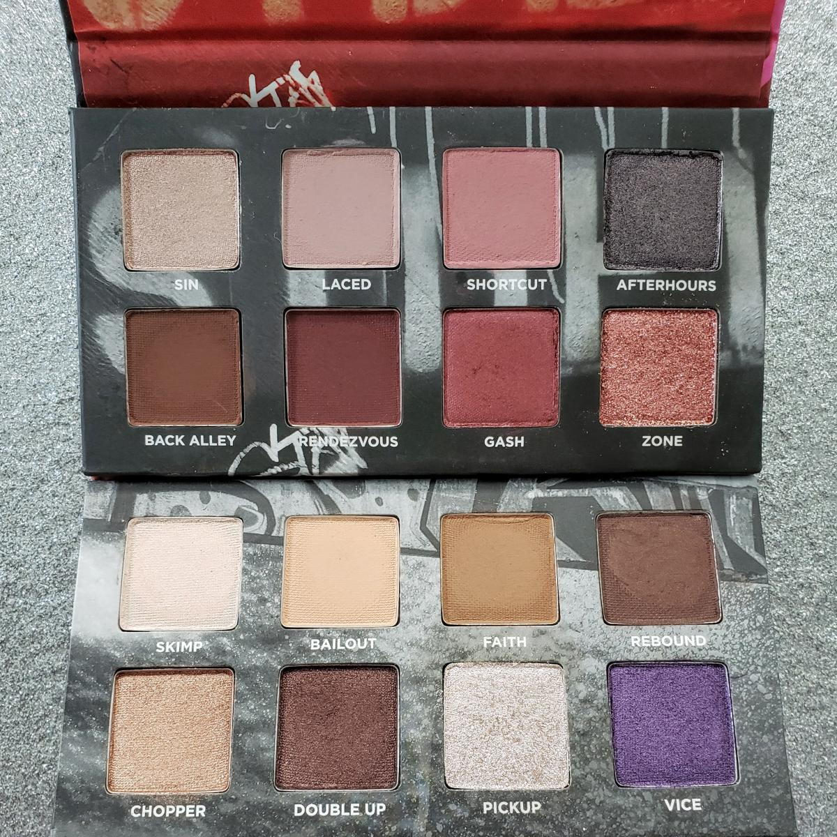 Urban Decay On The Run Mini Eyeshadow Palette In Shortcut And Bailout Review Inside