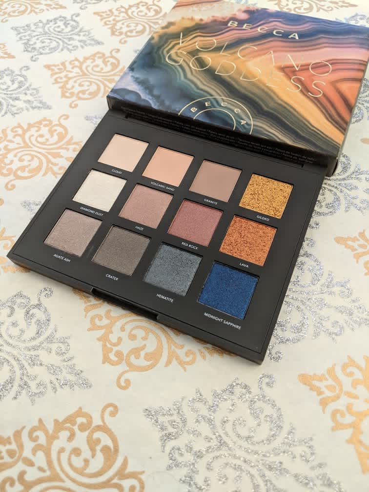 Becca Volcano Goddess Eyeshadow Palette Review and Swatches