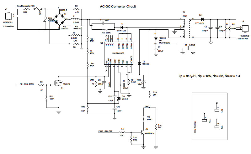 [STMicroelectronics SmartHomeLightingRefDesign Schematic Figure9 cr]