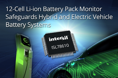 Intersil battery pack monitor