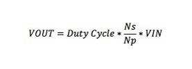 [output voltage equation (cr)]
