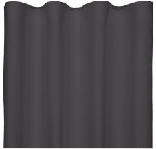 door de gelijkmatige golfbeweging van de stof krijgt het gordijn een luxe uitstraling een wavegordijn schuift soepel open en hangt dan in een compact
