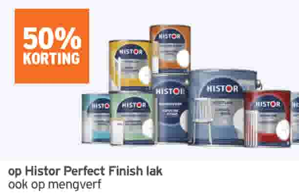 50% korting op Histor Perfect Finish lak