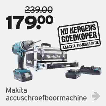 Makita accuschroefboormachine