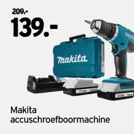 Makita accuschroefboormachine DF457DWE 209.00//139.00