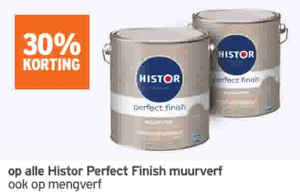30% korting op Histor Perfect Finish muurverf