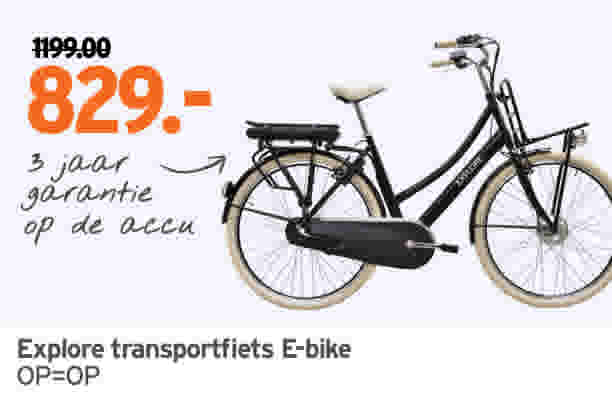 Explore transporterfiets E-bike 1199//829,-