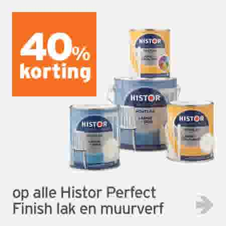40% korting op alle Histor Perfect Finish lak en muurverf