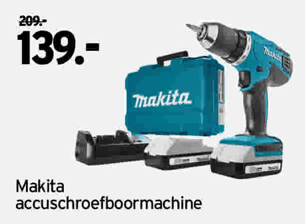 Makita accuschroefboormachine DF457DWE 209 // 139
