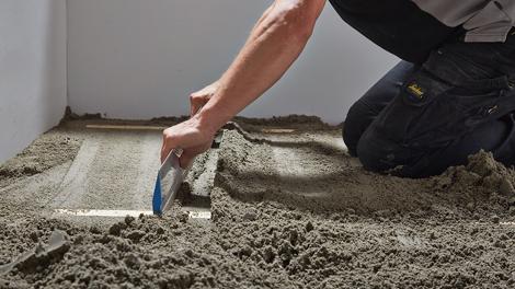 Zand cementdekvloer maken u stappenplan gamma