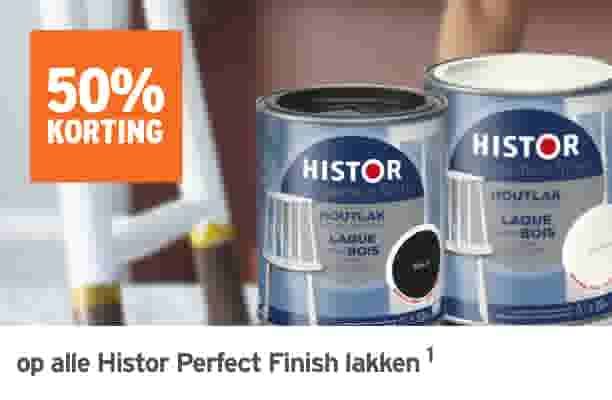 50% korting op alle Histor Perfect Finish lak