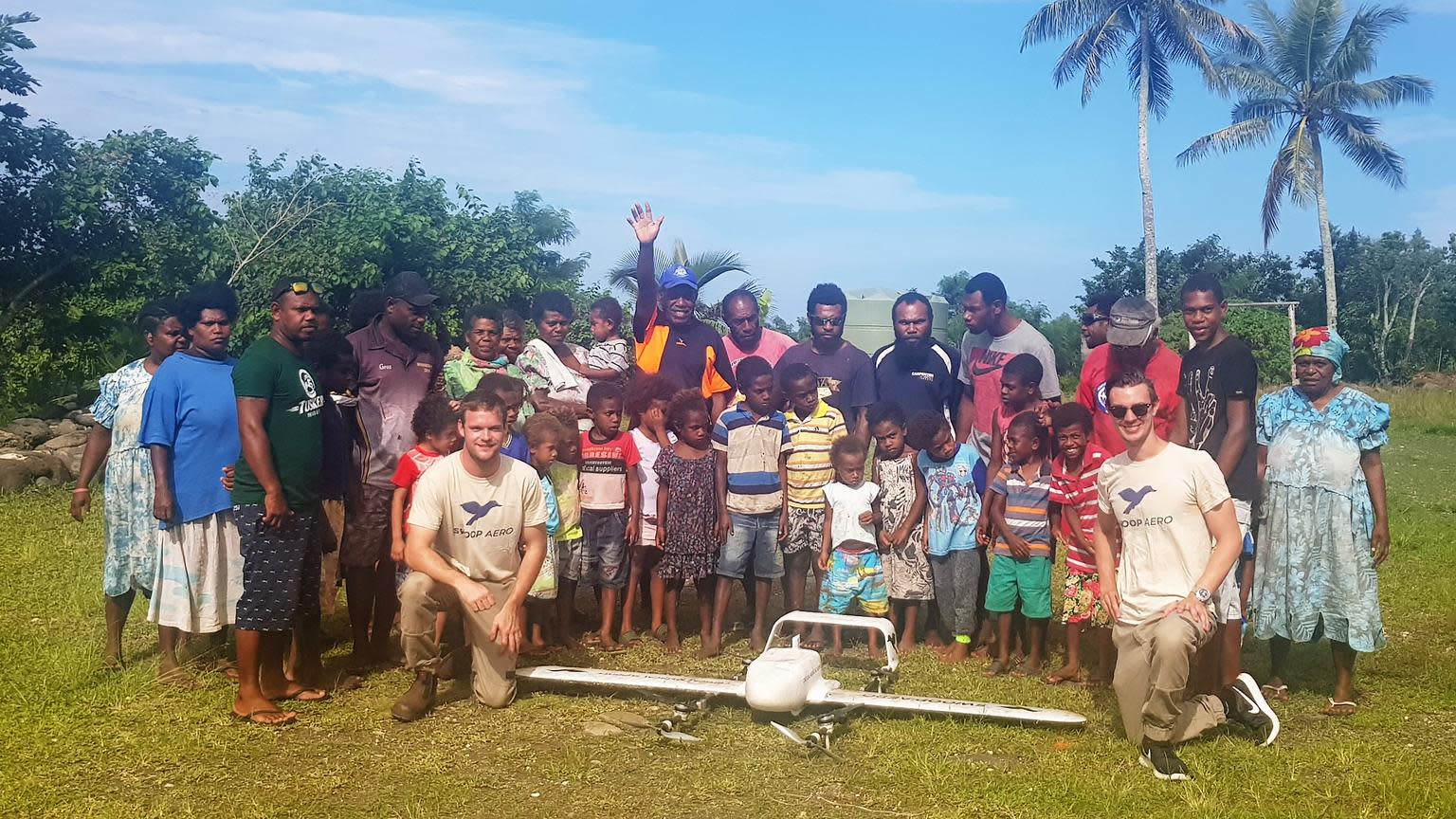 World's first drone delivery of life-saving vaccines to children in Vanuatu.