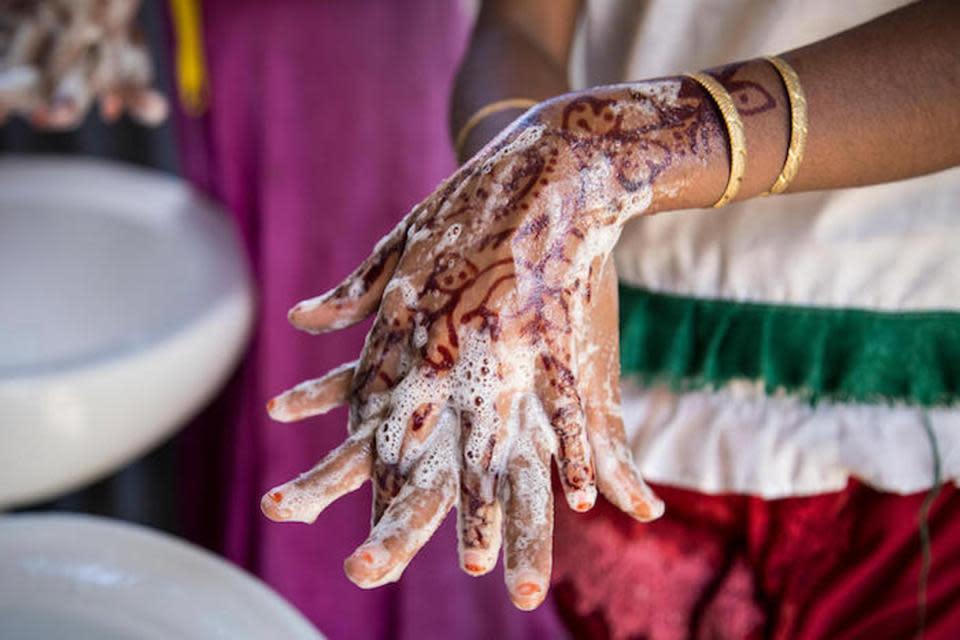 Rohingya hand washing
