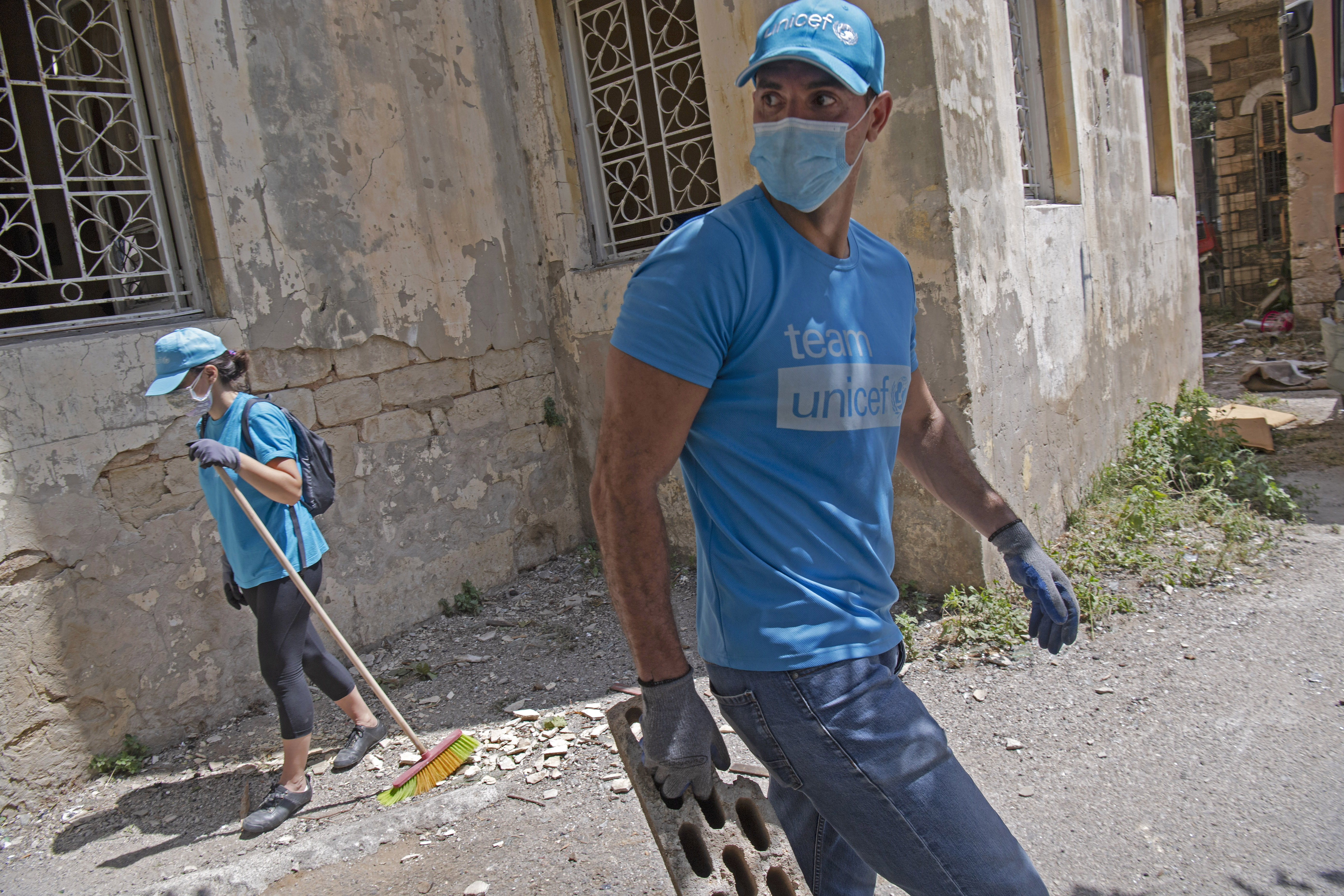 UNICEF workers – Beirut explosions