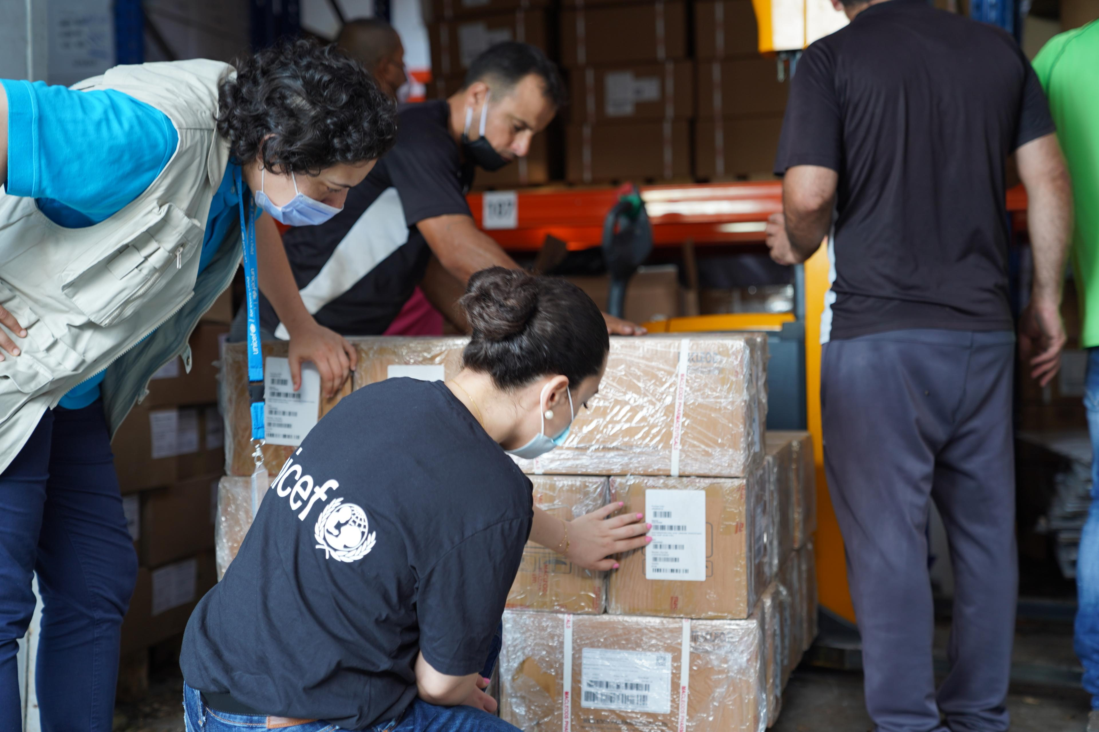 Beirut – UNICEF workers