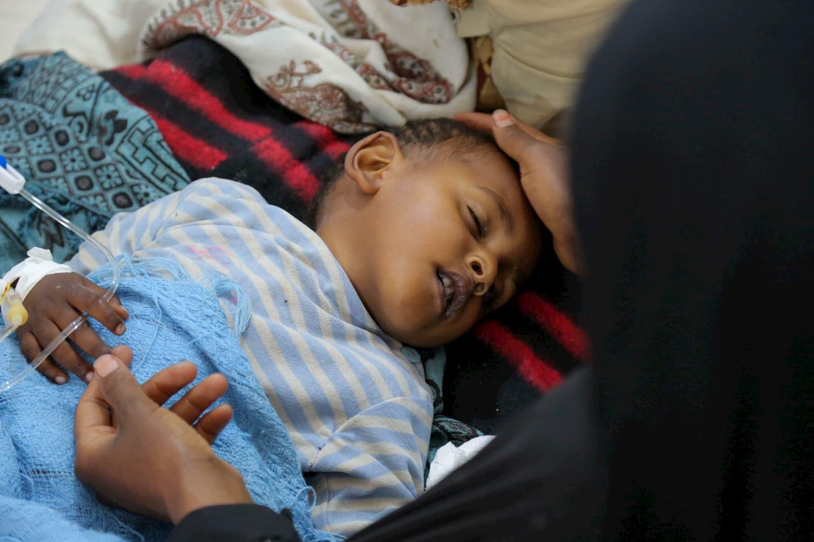 Children affected by cholera