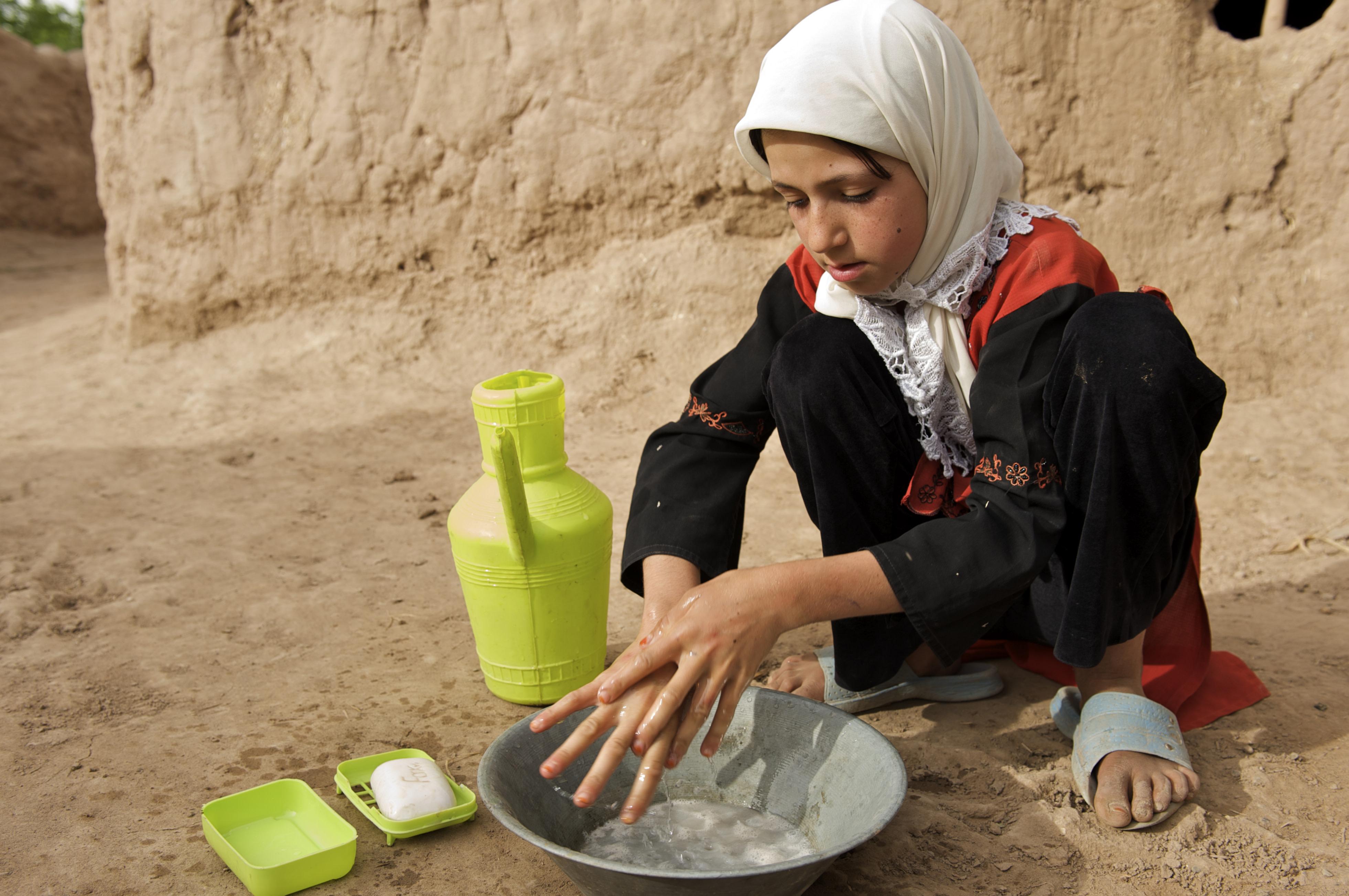 Afghanistan handwashing