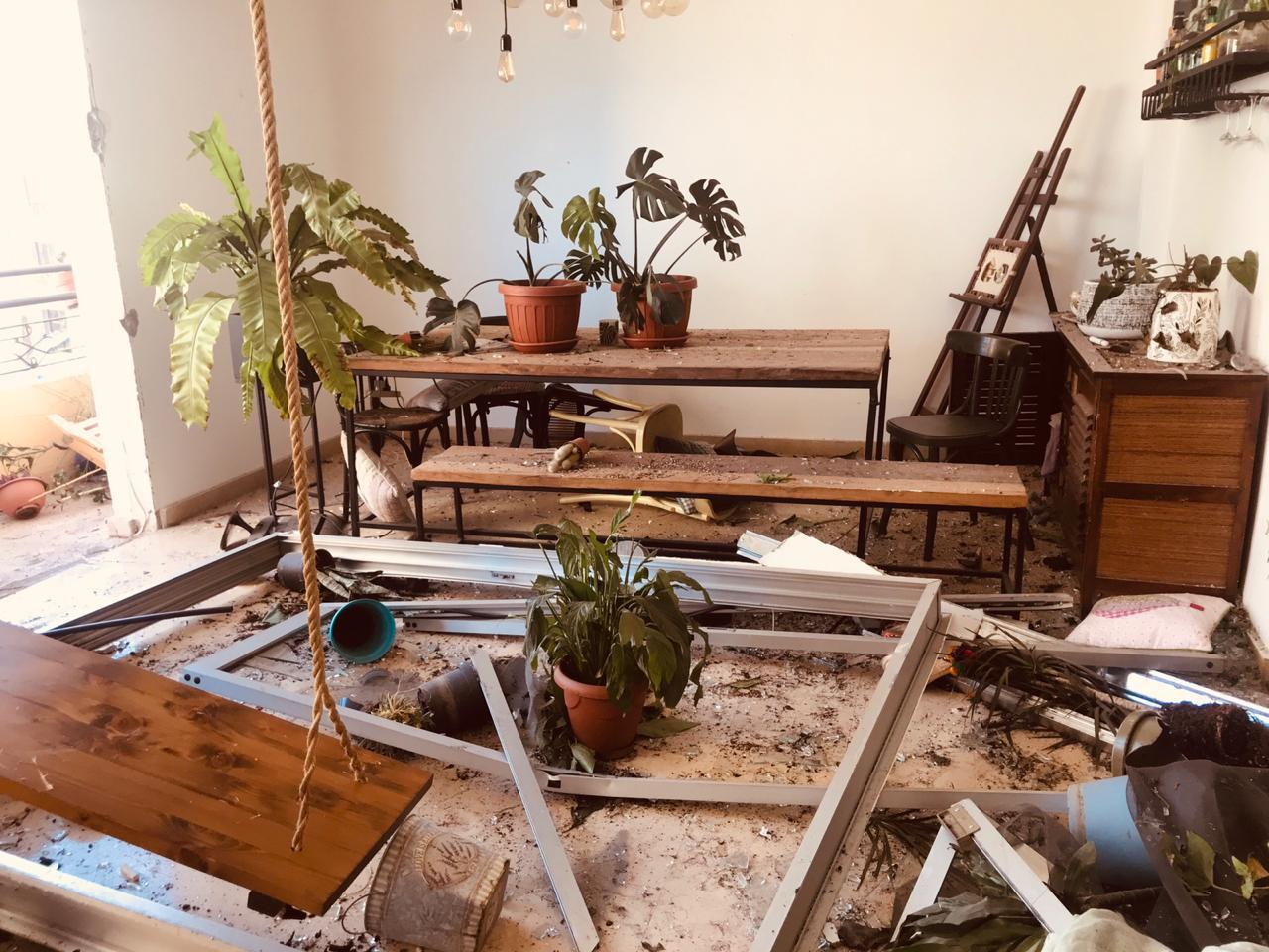 Jackeline Atwi's home after the explosion.