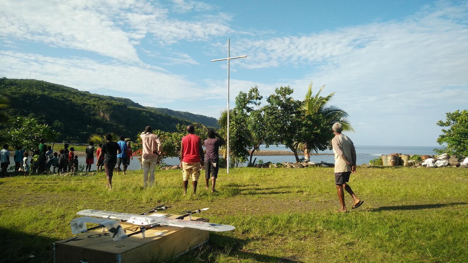 Drone delivers vaccines in Vanuatu