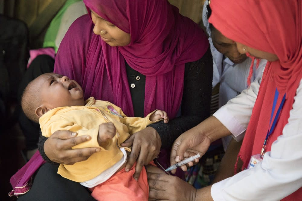 Unicef helps vaccinate almost half of the world's children each year
