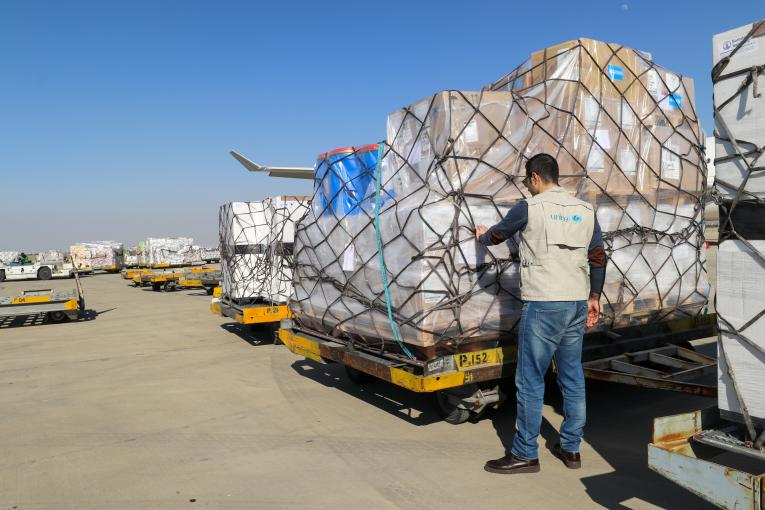 Coronavirus supplies arrive in Iran