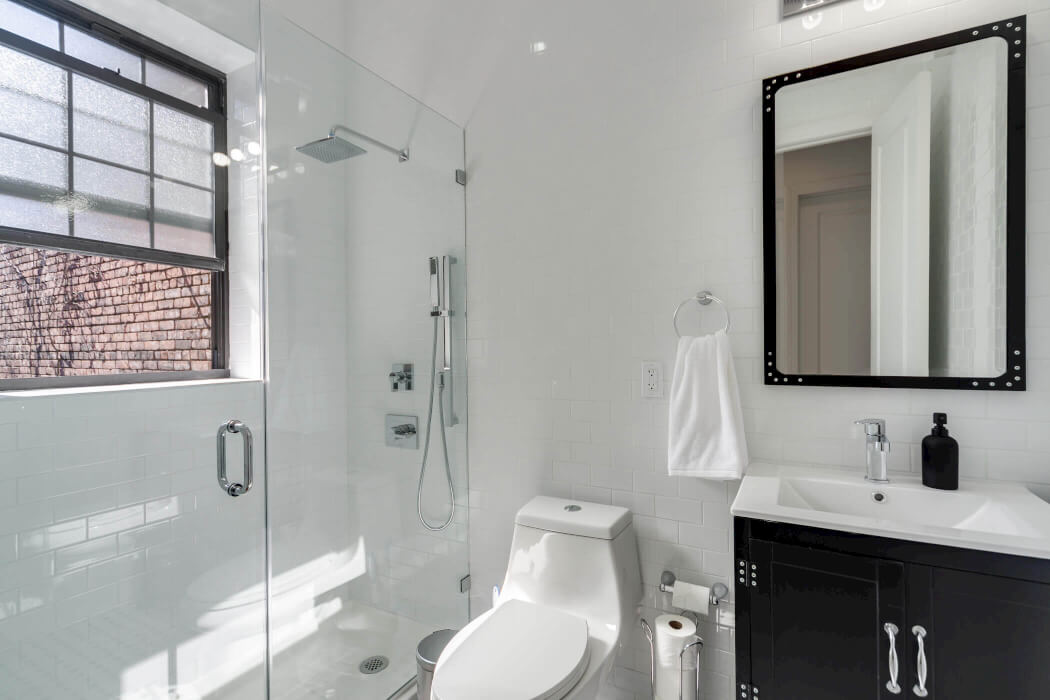 Common Herkimer bathroom coliving Brooklyn