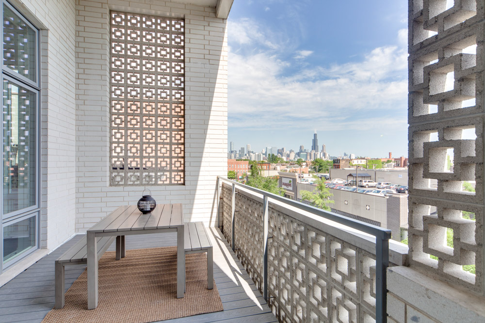 Many bedrooms have private balcony access as well at Common Damen in Chicago.