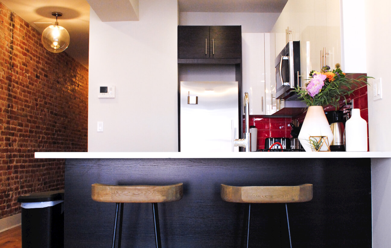 In every Common coliving suite, the kitchen is outfitted with high-end appliances. Pictured: Common Pacific in Brooklyn, New York.