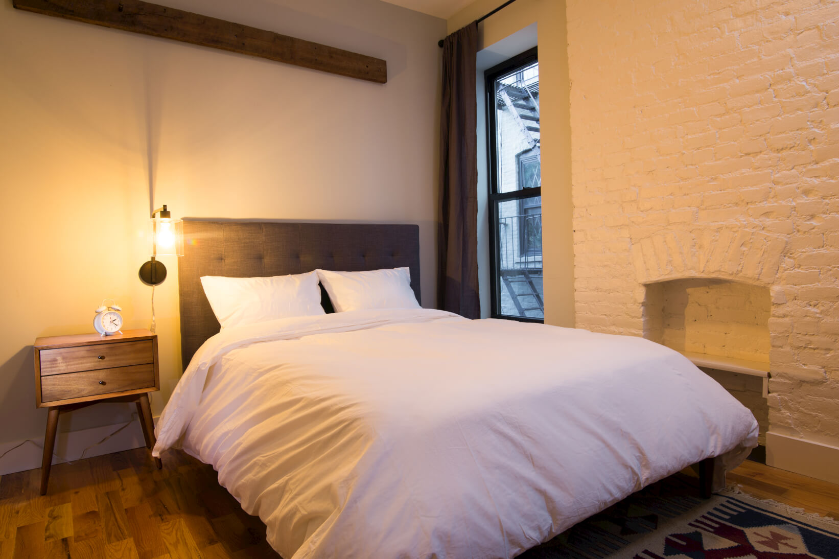 Every bedroom in our coliving suites is beautifully furnished with our members in mind. Pictured: Common Pacific in Crown Heights, Brooklyn.