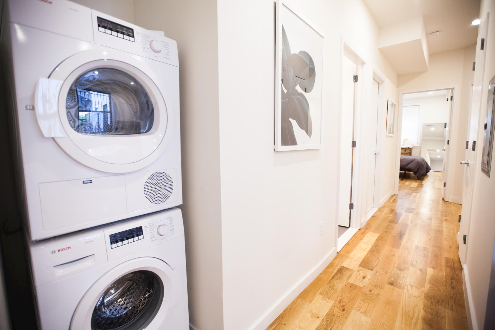 Every suite at Common Havemeyer in Williamsburg, Brooklyn, has an in unit washer dryer.