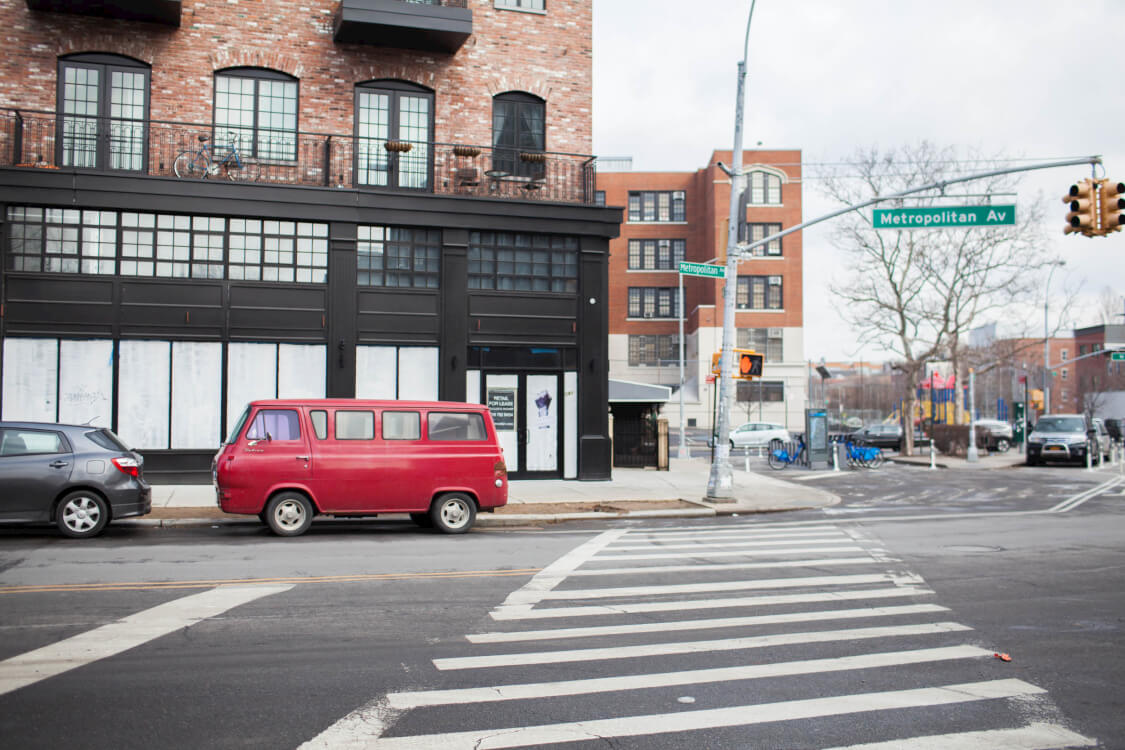 Metropolitan Avenue in Williamsburg, Brooklyn is a quick walk away from Common Havemeyer.