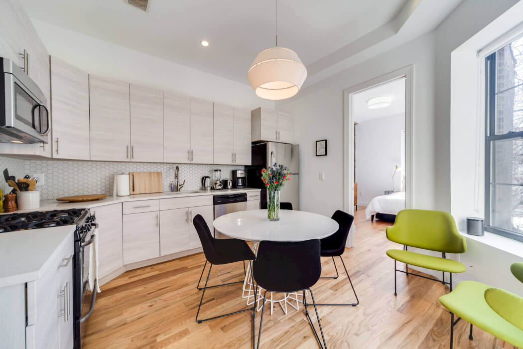 Common Herkimer Crown Heights coliving kitchen