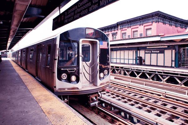 Williamsburg, Brooklyn is served by many MTA trains. The J,M,Z line is close to many popular stops including Marcy Avenue.