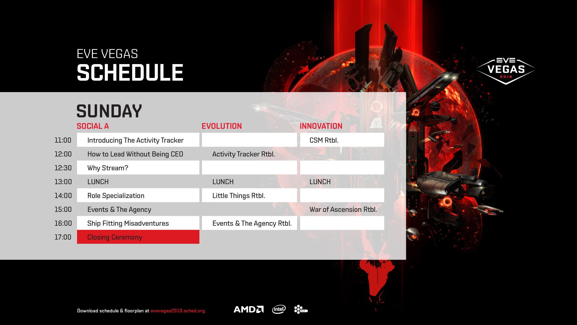 Schedule Sunday