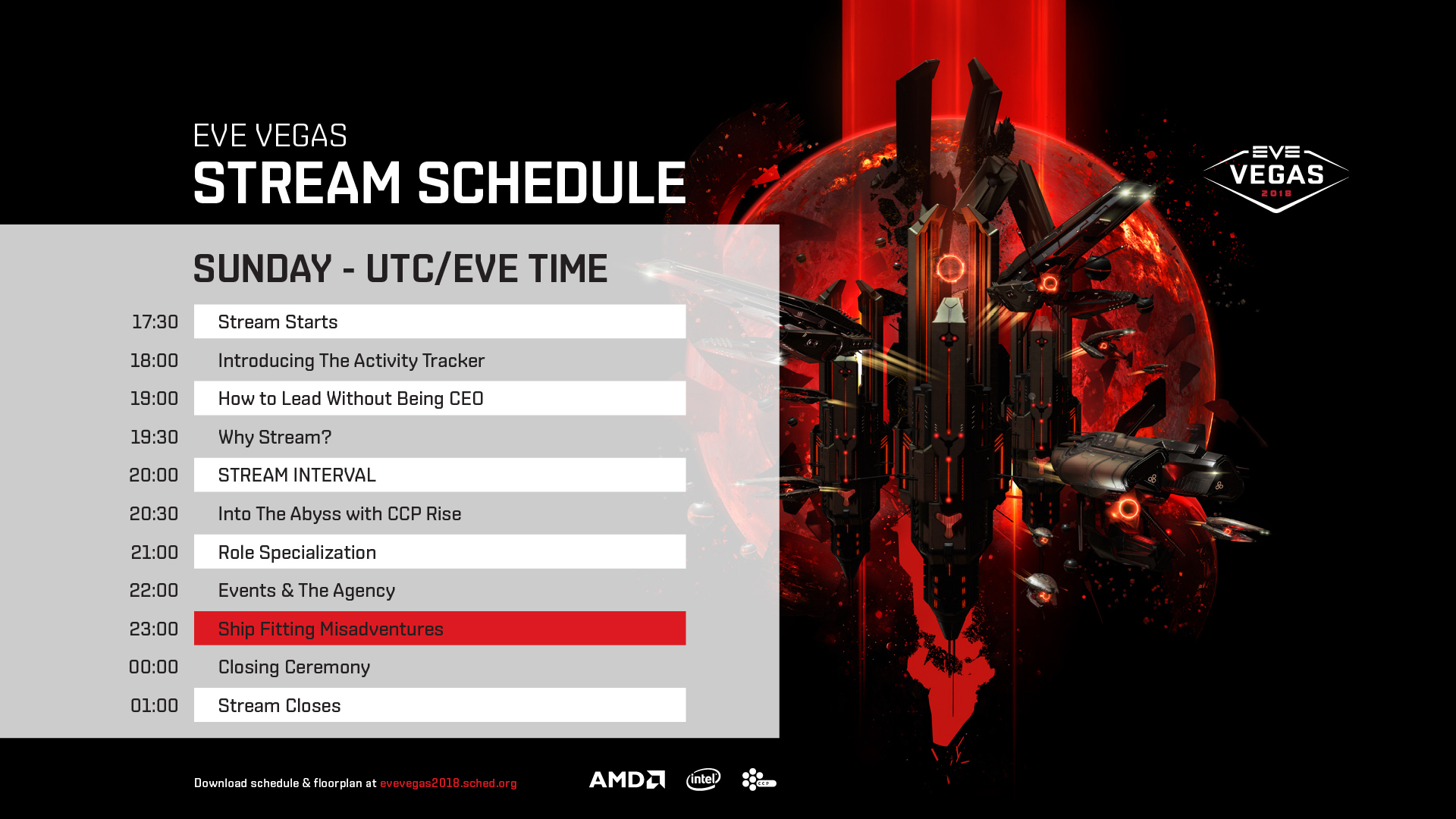 Stream Schedule Sunday
