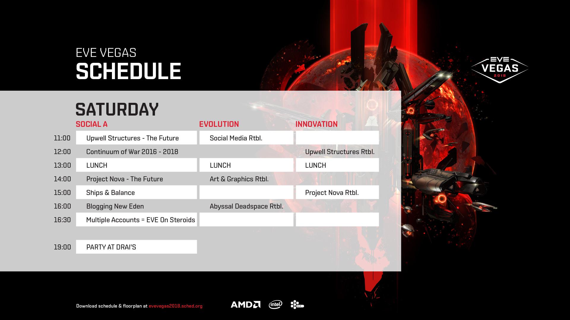 Schedule Saturday