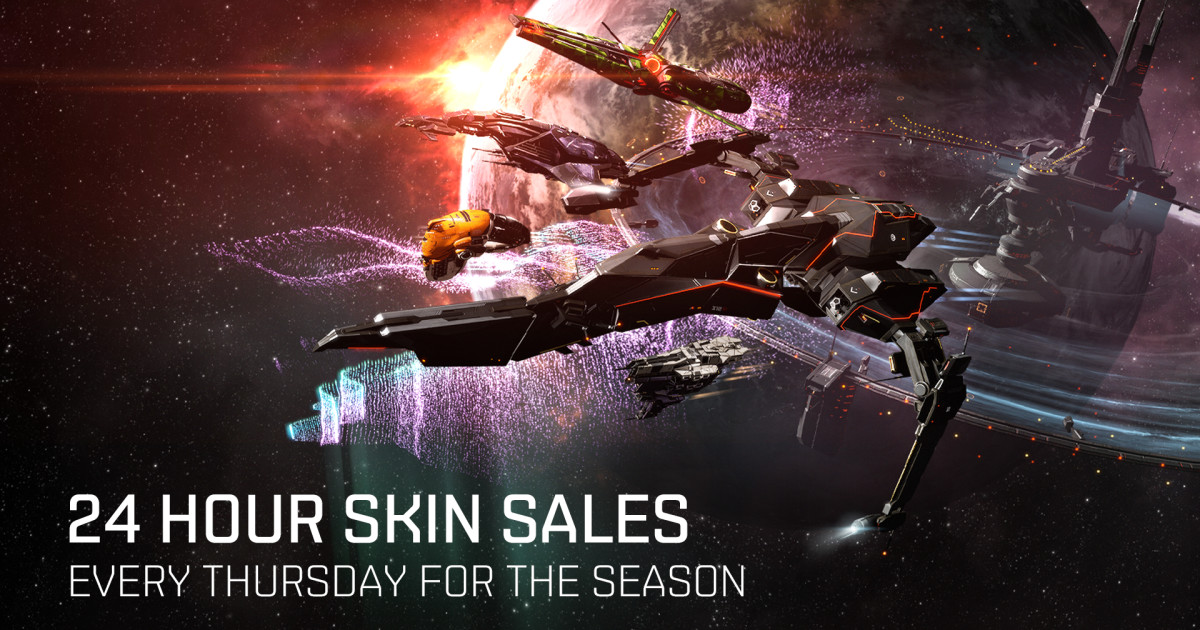 24 Hour Skin Sales Every Thursday Eve Online