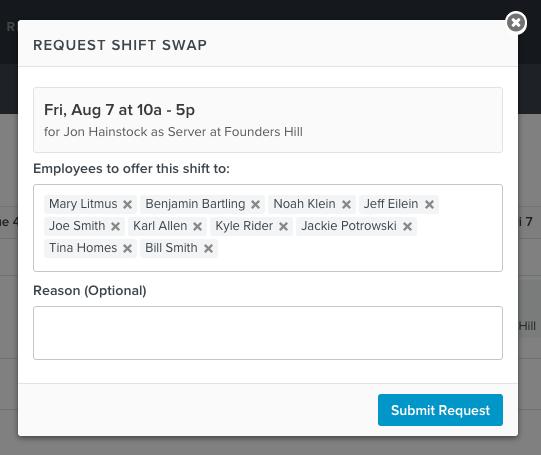employee shifts
