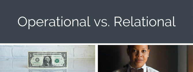 operational vs relational employee scheduling
