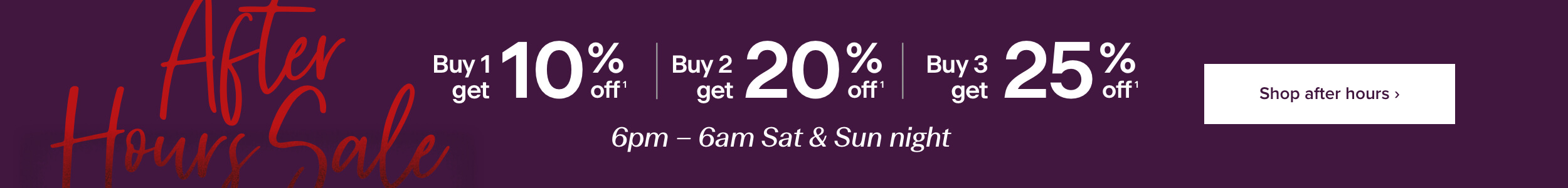 After Hours Sale at Michael Hill - Buy 1 get 10% off, Buy 2 get 20% off, Buy 3 get 25% off, online only