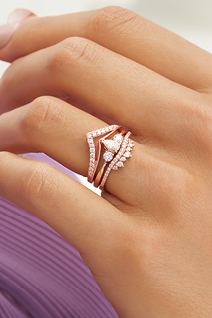 Trending: Rose Gold Bridal Rings